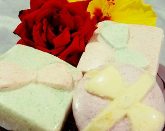 Present Bath Bombs-4 oz- Sulfate Free- Gift- Great for Sensitive Skin- Variety of Colors and Scents-Coconut Oil