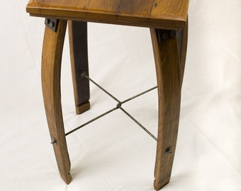 Reclaimed Wine Barrel & Stave Table