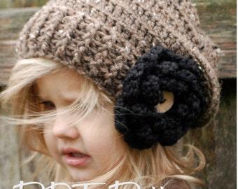 Crochet PATTERN-The Nadiya Slouchy (Toddler, Child, Adult sizes)