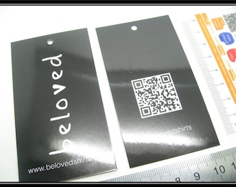 "100 hang tags, Custom swing tags, hang tags printing, Standard size 2""x3.5""  (50x89mm)"