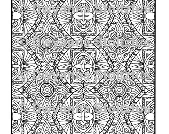 Mirrored Design 5 Coloring Page JPG