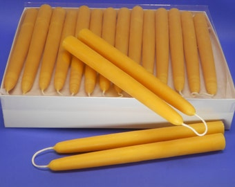 Beeswax Tapers, 21 Pair of 3/4 x 8 Hand Dipped Taper Candles, Epic Beeswax Candles, Beeswax Taper Candles, Holiday and Christmas Candles