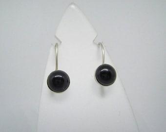 Black Onyx Earrings, Sterling Silver Earrings with onyx, Handmade Onyx Earrings, Silver earrings