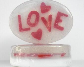 Valentine LOVE Glycerin Soap