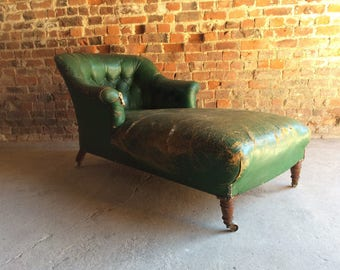 Antique Howard & Sons Style Napolean III Chaise Longue Victorian For Restoration