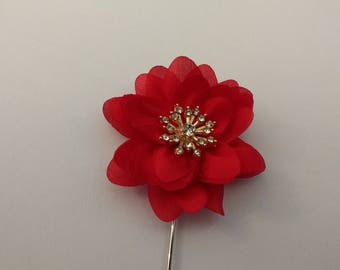 Men's Lapel Pin.....Fabric Flower Lapel Pin