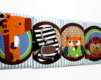Jungle Light Switch Cover and Outlet Covers - Jungle Nursery Decor