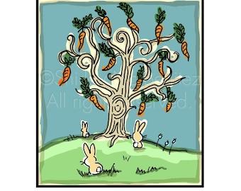 Die Karotte-Baum