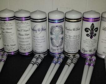 Unity Candle, Wedding Candle Set, Personalized Candle, Monogram Unity Candle