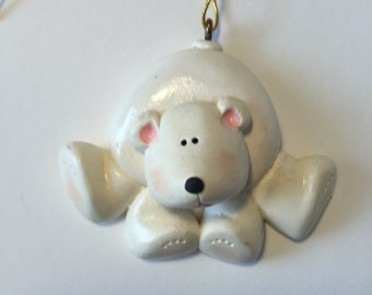 LAST ONE...Polar Bear Personalized Christmas Ornament/ Bear/ Polar