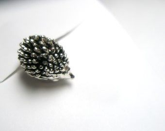 Hedgehog  Ring- tiny Siver jewelry-Adjustable size Ring