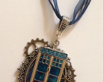 Dr Who necklace with a Steampunk twist.