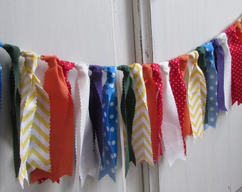 Rainbow Rag Tie Banner, Rainbow Rag Tie Garland, Rainbow Garland, Rainbow Banner, Rainbow Party Decorations, Rainbow Birthday, Rainbow, Rag