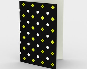 Graphic Black and Yellow | Stationery | Notecards | Modern | Thank You Cards | Art Print Cards