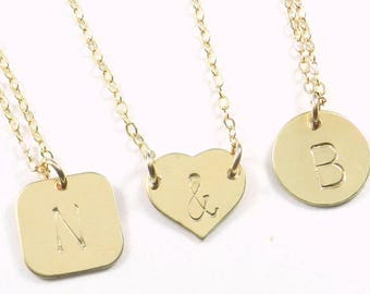 The Shannon Initial necklace. Monogrammed. Initial.