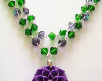 Chrysanthemum Double Strand Necklace- 40/50s Inspired
