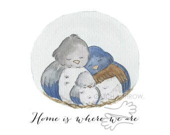 Home is where we are nursery art print