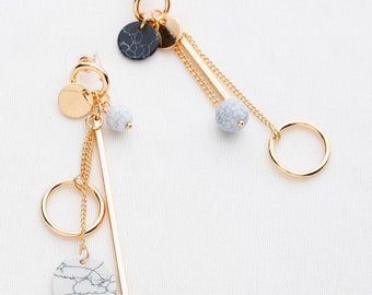 Multi Chain Drop Earrings