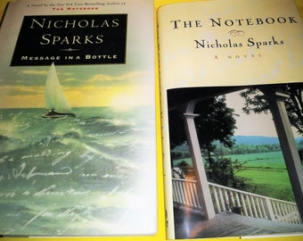 SUMMER READING- 2 Books- The Notebook and Message in a Bottle by Nicholas Sparks
