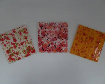Hand Glazed Ceramic Coasters/Tiles