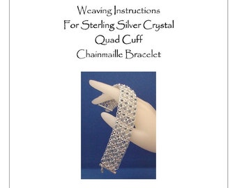 PDF Instructions For The Crystal Quad Chainmaille Cuff