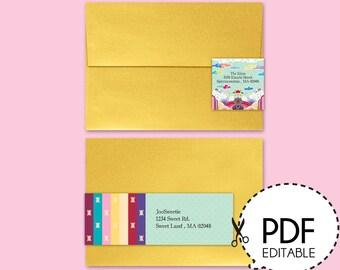 Korean Wrap Around Address Label-Printable PDF Download
