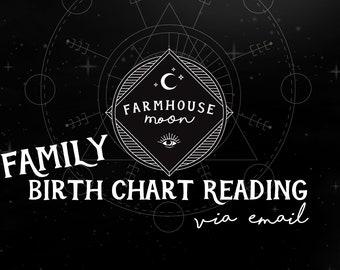 FAMILY Birth Chart Reading - Natal Chart Reading -  Emailed Reading - Astrology Horoscope Reading
