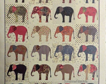 Elephants Quilt Pattern - Edyta Sitar - Laundry Basket Quilts - LBQ-0566-P