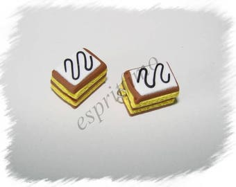 """""""Millefeuille"""" Fimo charm"""