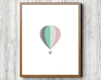 Hot Air Balloon 8 x 10 Printable
