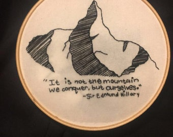 Mountain & Quote embroidery hoop