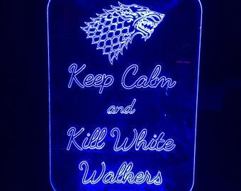 Keep Calm White Walkers Nightlight #GOT #GameOfThrones