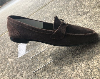 Vintage Christian Dior Suede Loafers. Size 40