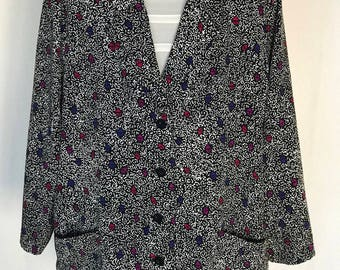 80's All Over Printed Blazer
