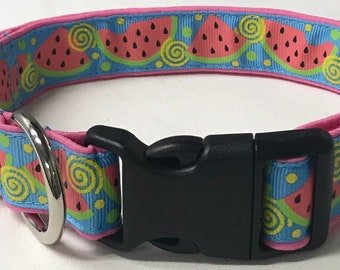 dog collar, watermelon 2, watermelon, watermelon dog collar, watermelon collar, summer, summer dog collar, summer collar, fruit dog collar
