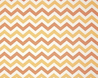Yellow and Orange Chevron Cotton Fabric in Yard, 3/4, Half and 1/4 School Days by Zoe Pearn for Quilting Sewing by Riley Blake
