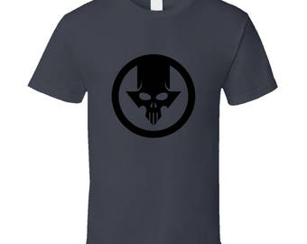 Blacklight Skull Charcoal Grey T-Shirt