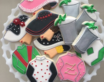 Kentucky Derby Favor, Derby Party Favor,Derby Cookie Favors, Derby Watch Party, Horse Cookies, Horse Racing, Kentucky Derby, Jockey Cookies