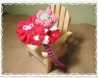 Theresa (Red) - Headband (Childred/ Girls/ Accessories/ Yoyo Flower)