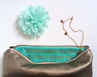 Personalized Bridesmaid Clutches. Bridesmaid Gifts. Custom Bridal Gift. Unique Gift for Bridesmaids. Bridesmaid Clutch. Gold Clutch Foldover
