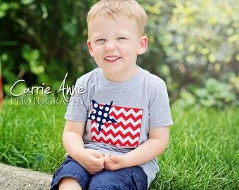 4th of July Kid's American Flag Shirt, Tshirt, or Tank Top, Fourth of July, American Flag, Patriotic, Boy, Girl, Baby,