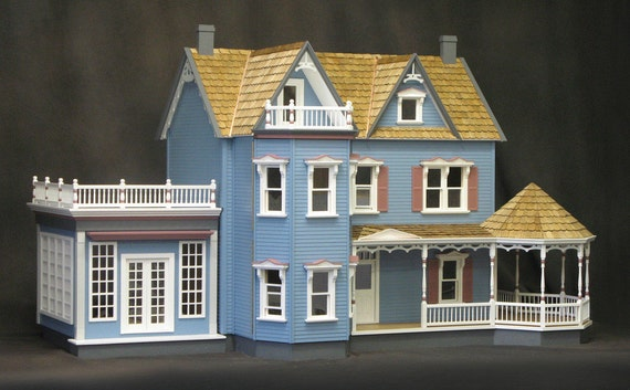 Rose Garden Mansion, A Deluxe Victorian Wooden Dollhouse Kit, Scale One Inch, Treasury List