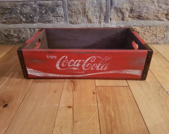 Vintage Coca Cola Crate Wooden Box