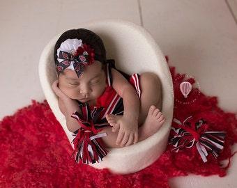 Arizona Cardinals Headband, Cardinals Baby Heaband, Arizona Cardinals Girls Headband, Great Photo Prop