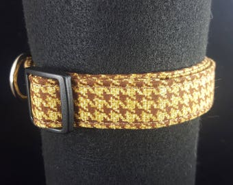 Brown Houndstooth Dog and Cat Collars
