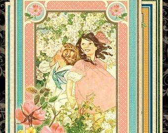 ON SALE Graphic 45 Children's Hour  Ephemera Cards