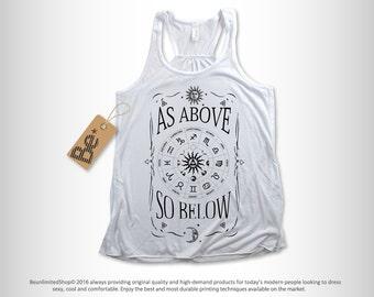 Yoga Shirt, Yoga Tank, Workout Shirt, Yoga, Yoga Clothes, Yoga Top, Yoga Clothing, Yoga Tank Top, Gym Shirt, Namaste, As Above So Below Tank
