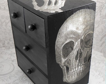 Skull and Lace Anatomy Stash Jewelry Box
