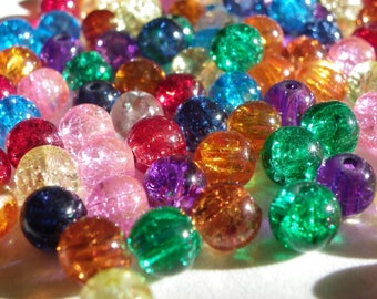100 cracked 6 mm in any color Crystal beads