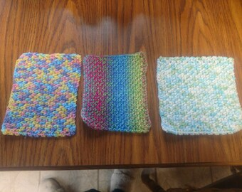 Handmade crochet dishcloths